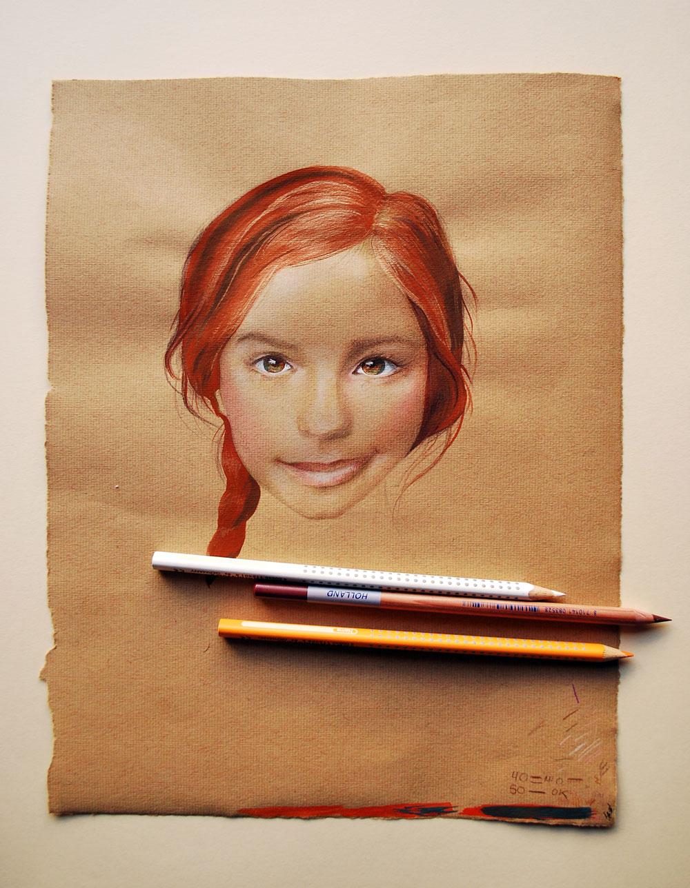 Retrato de niña by Virginia Jimenez
